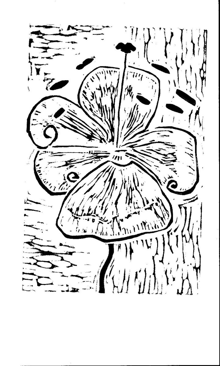 Flowered Relief Print