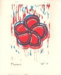 Plumeria Relief Print