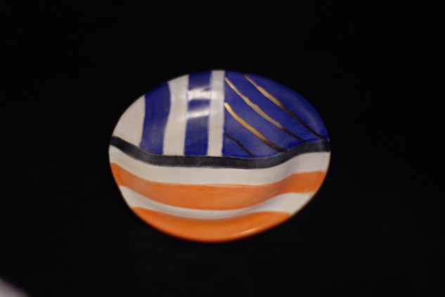 blue and orange bowl