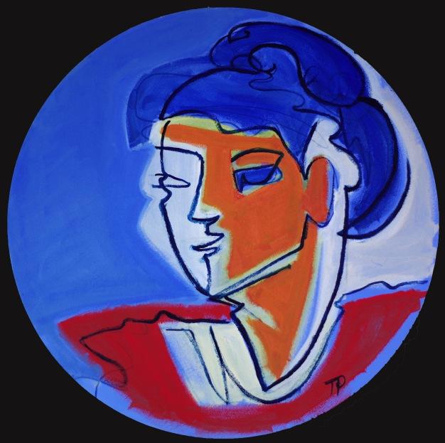 Blue bun