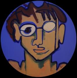 Figure on Blue